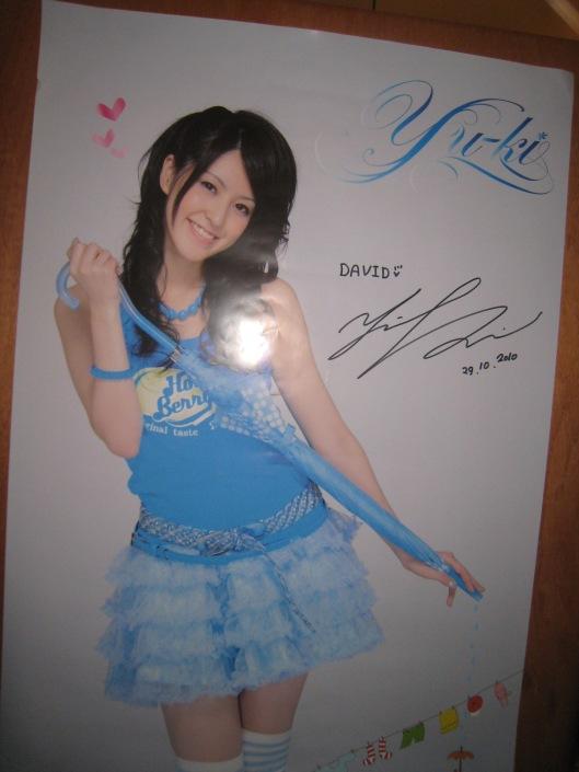 Poster autografiado